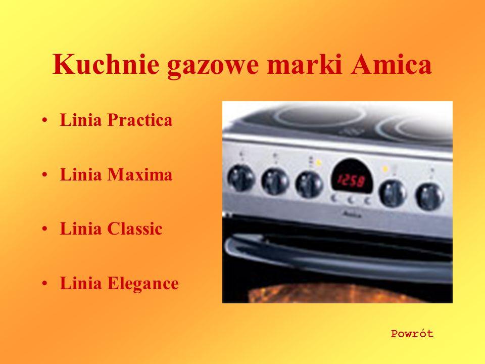 Kuchnie gazowe marki Amica
