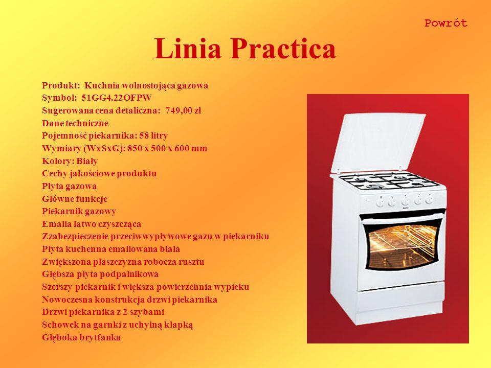 Linia Practica Powrót Produkt: Kuchnia wolnostojąca gazowa