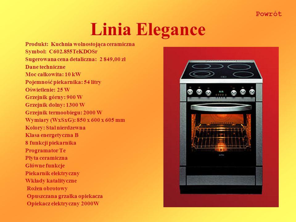 Linia Elegance Powrót Produkt: Kuchnia wolnostojąca ceramiczna