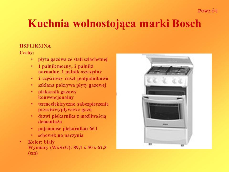 Kuchnia wolnostojąca marki Bosch