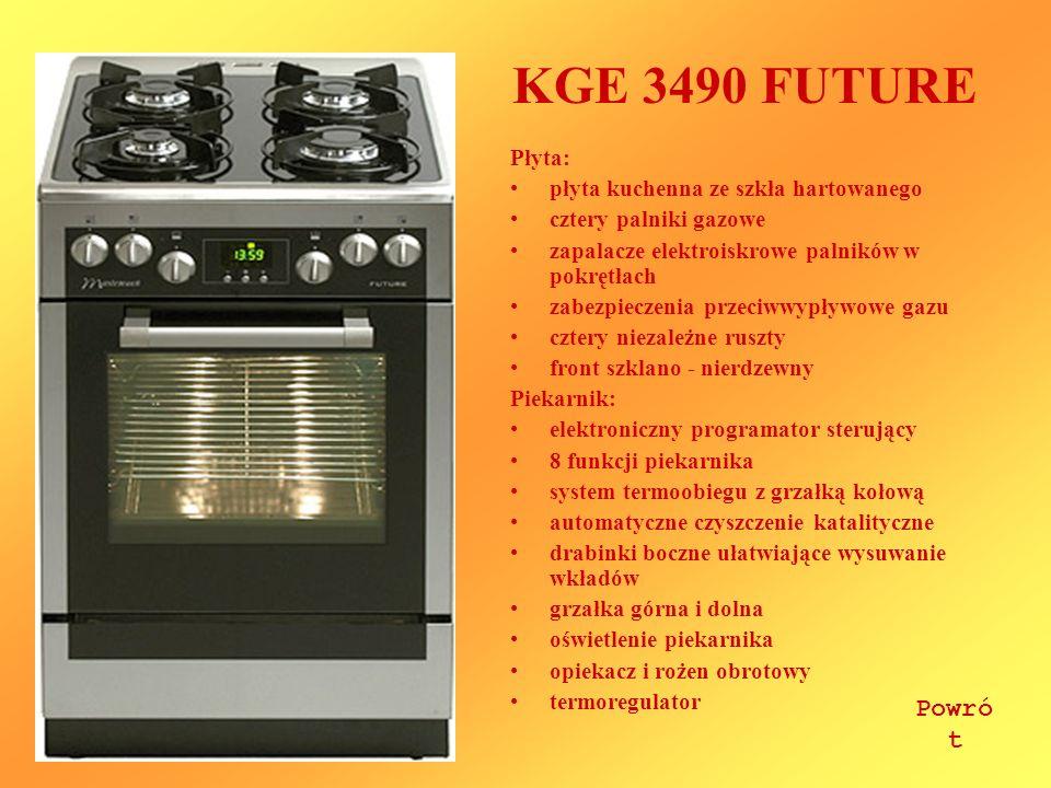 KGE 3490 FUTURE Powrót Płyta: płyta kuchenna ze szkła hartowanego