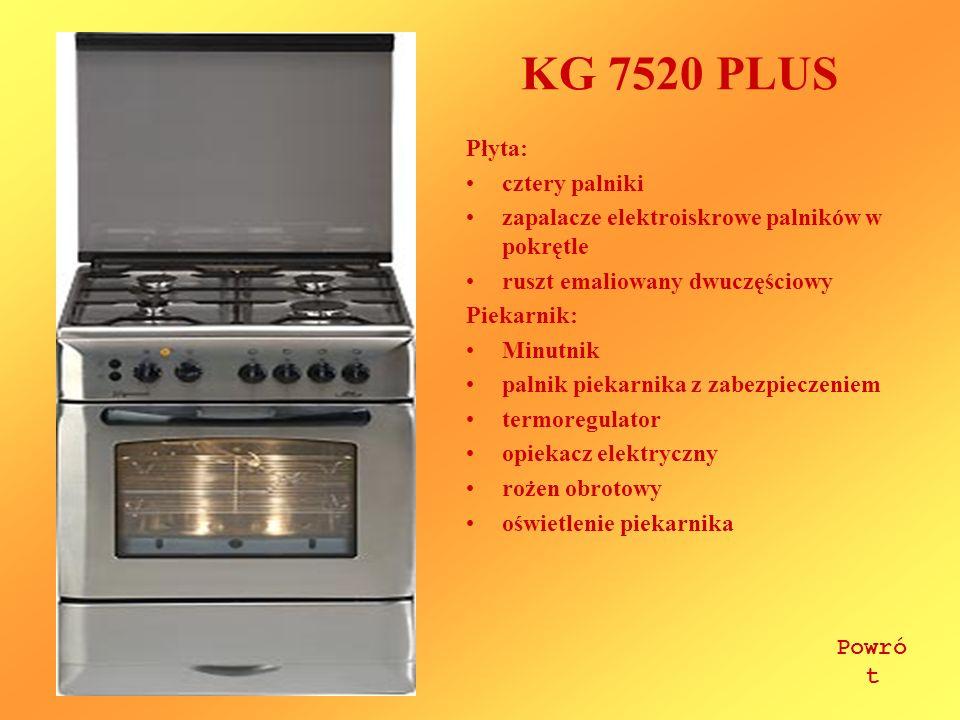 KG 7520 PLUS Płyta: cztery palniki