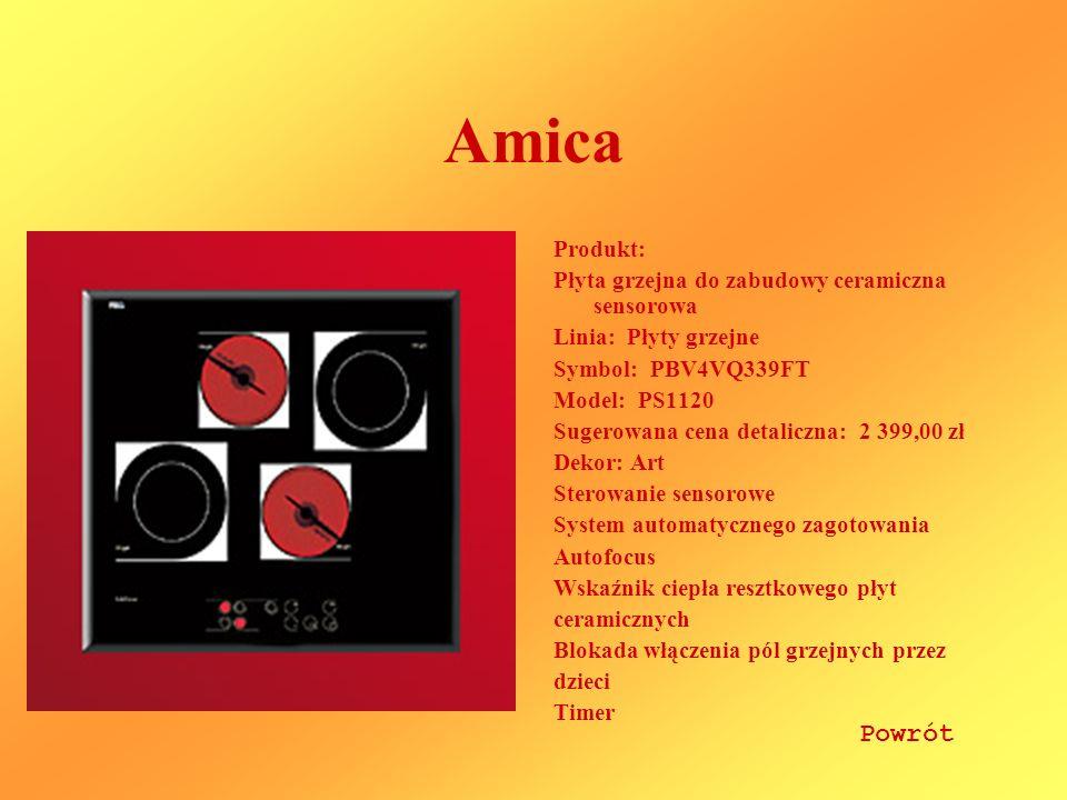 Amica Powrót Produkt: Płyta grzejna do zabudowy ceramiczna sensorowa