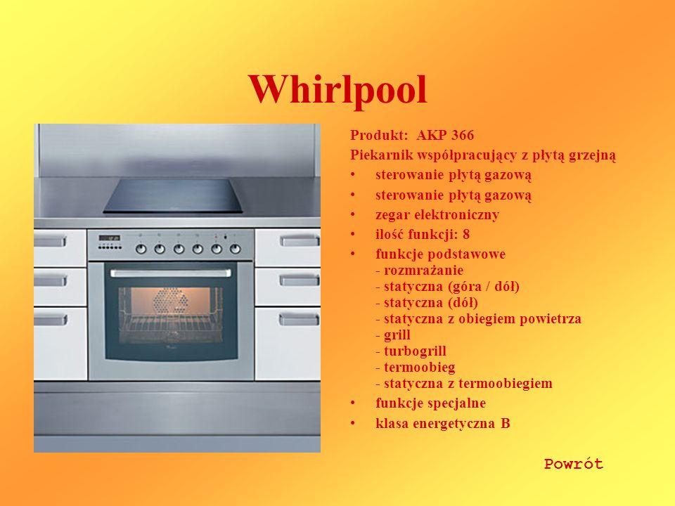 Whirlpool Powrót Produkt: AKP 366