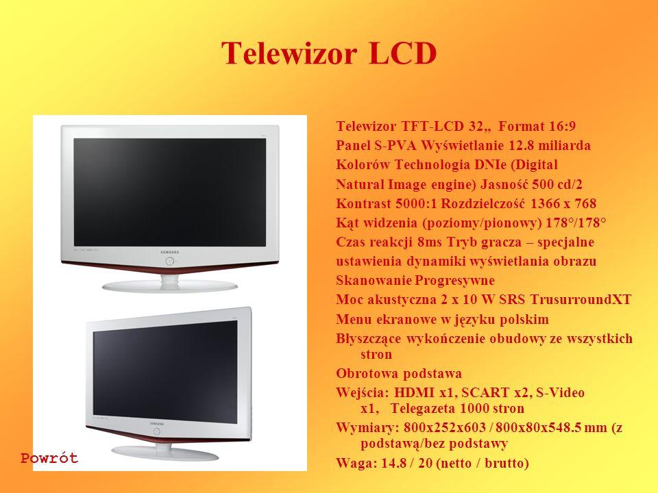 """Telewizor LCD Powrót Telewizor TFT-LCD 32"""" Format 16:9"""