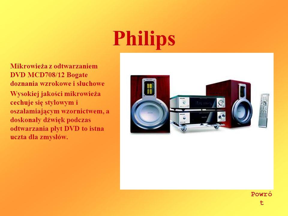 Philips Mikrowieża z odtwarzaniem DVD MCD708/12 Bogate doznania wzrokowe i słuchowe.