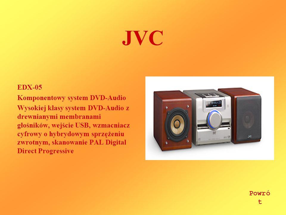 JVC EDX-05 Komponentowy system DVD-Audio