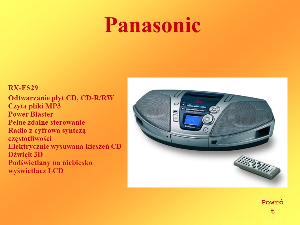 Panasonic RX-ES29.
