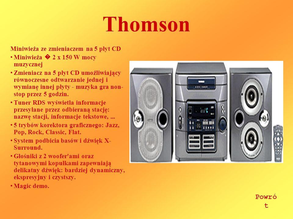 Thomson Powrót Miniwieża ze zmieniaczem na 5 płyt CD