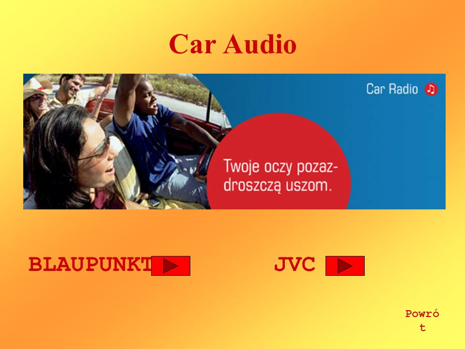 Car Audio BLAUPUNKT JVC Powrót