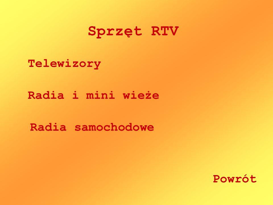 Sprzęt RTV Telewizory Radia i mini wieże Radia samochodowe Powrót