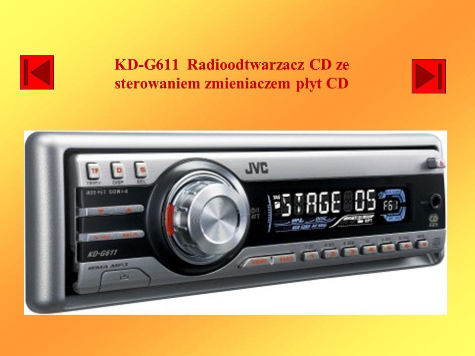 KD-G611 Radioodtwarzacz CD ze sterowaniem zmieniaczem płyt CD