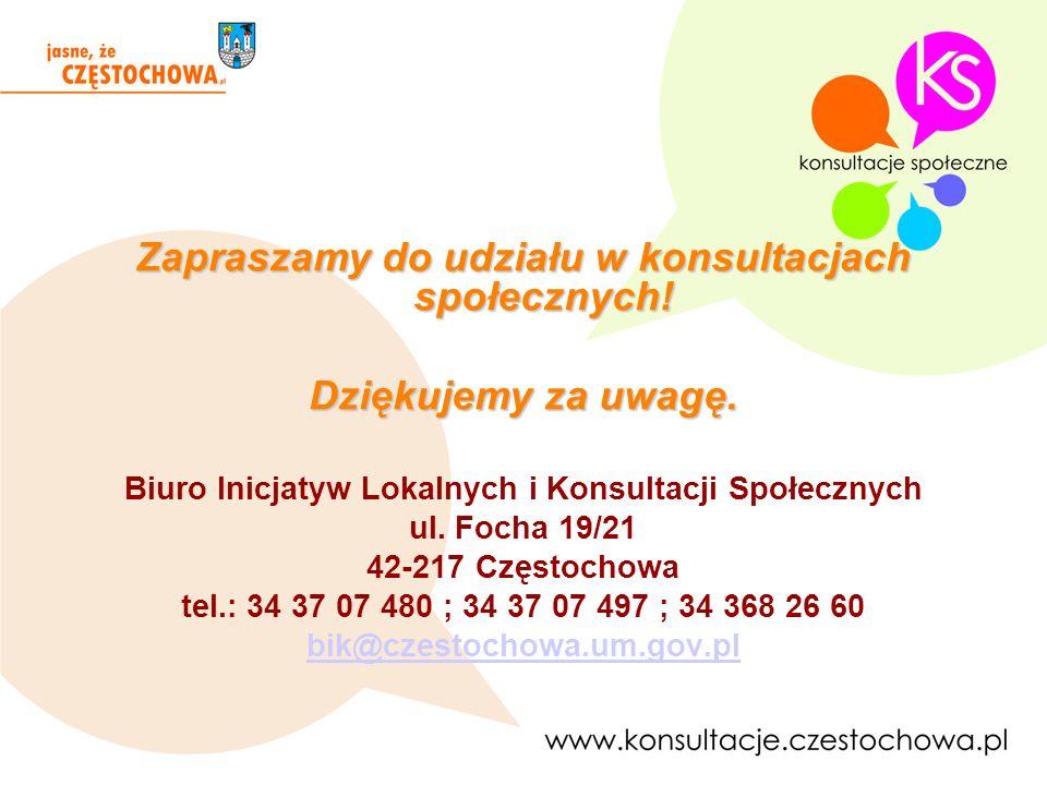 Zapraszamy do udziału w konsultacjach społecznych!