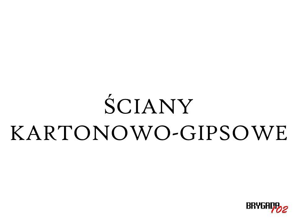 ŚCIANY KARTONOWO-GIPSOWE