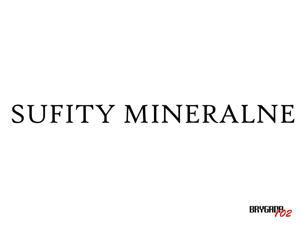 SUFITY MINERALNE