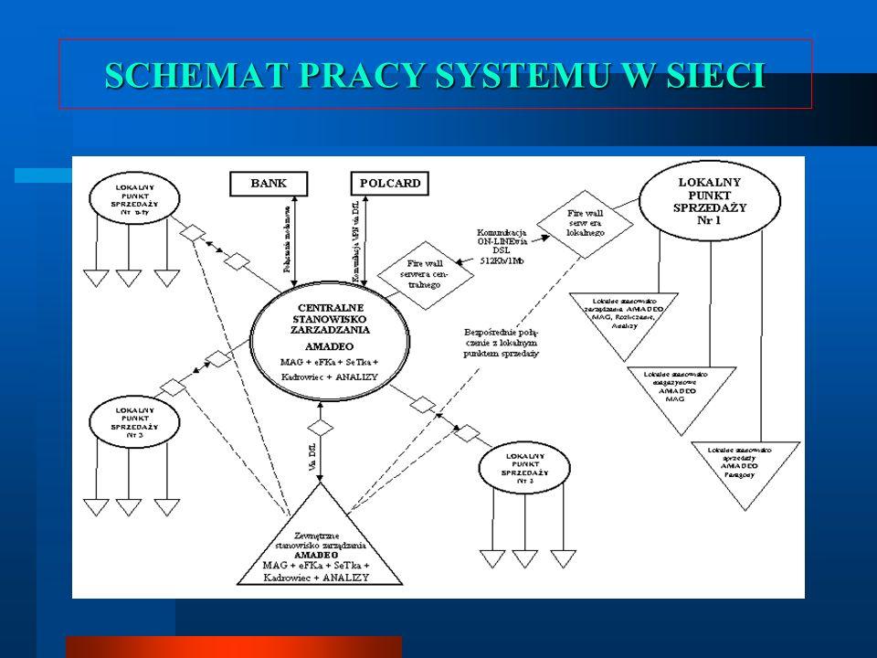 SCHEMAT PRACY SYSTEMU W SIECI