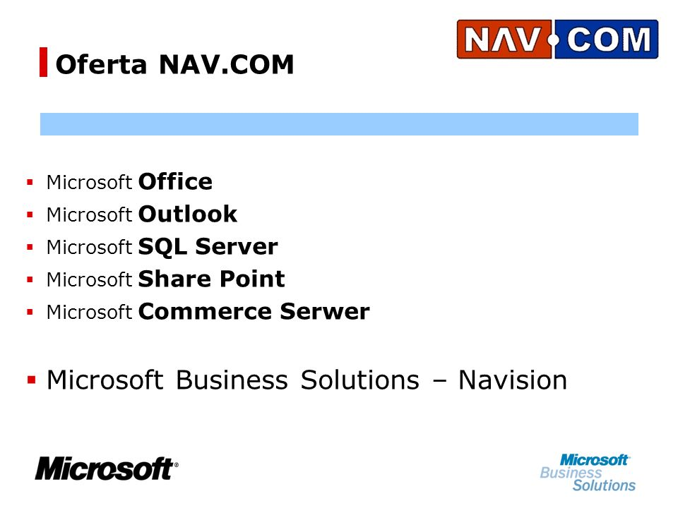Microsoft Business Solutions – Navision