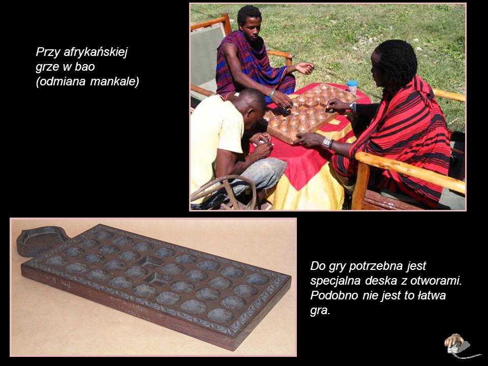 Przy afrykańskiej grze w bao (odmiana mankale)