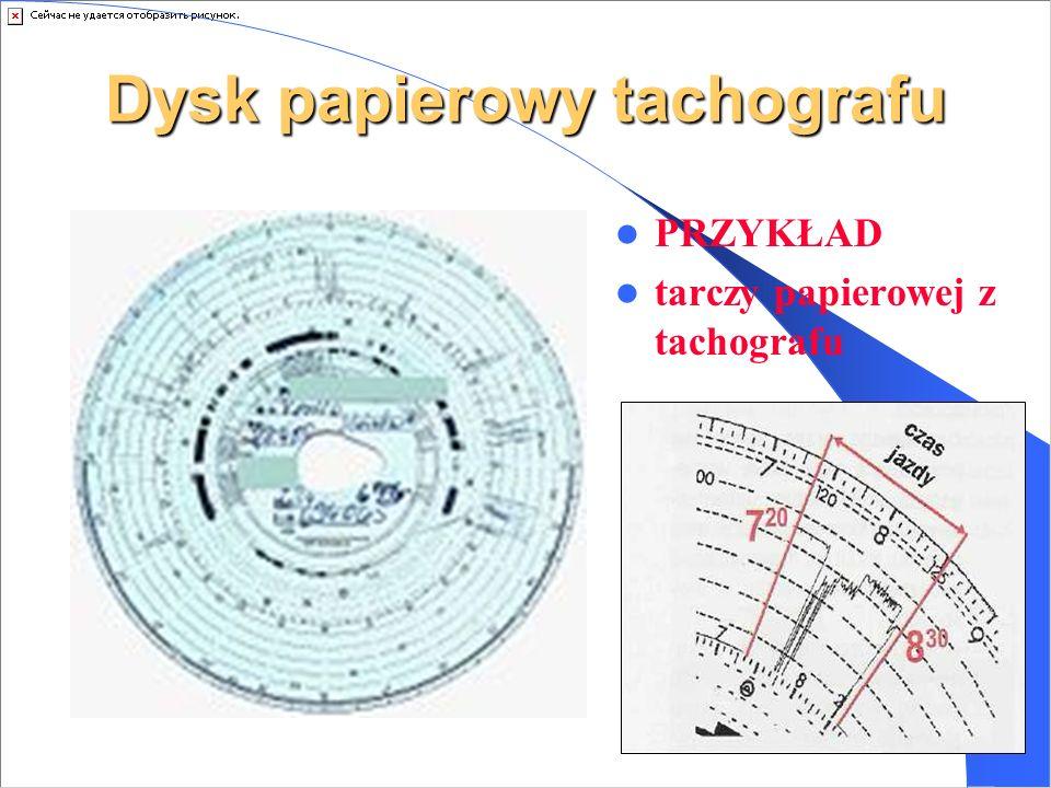 Dysk papierowy tachografu