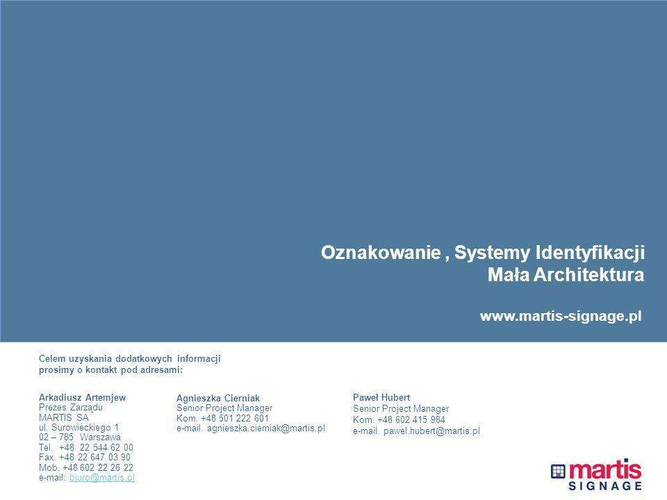 Oznakowanie , Systemy Identyfikacji Mała Architektura