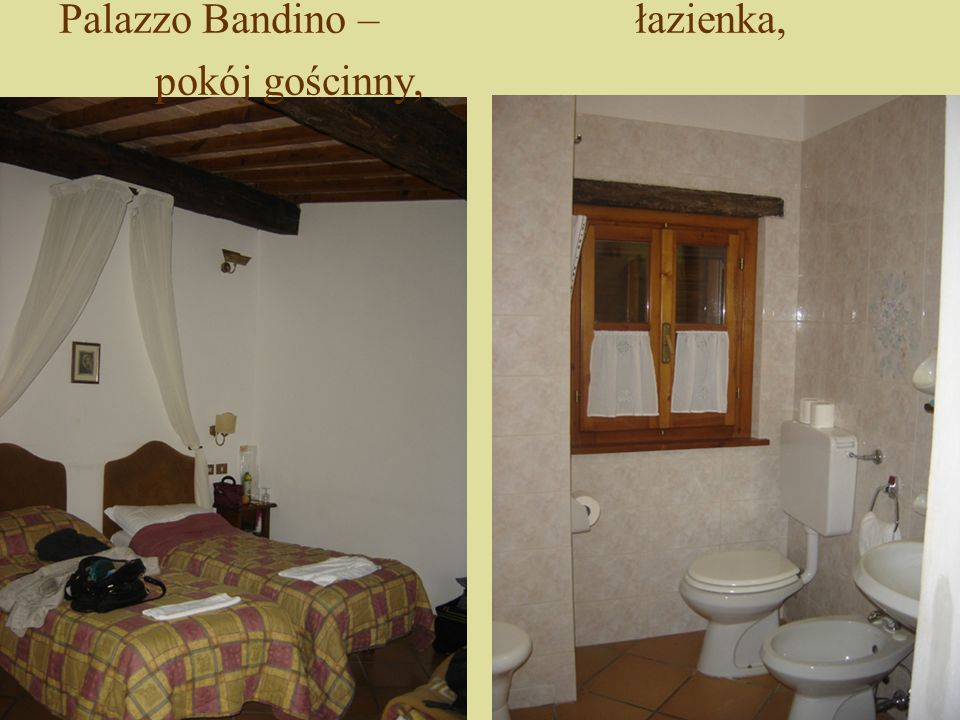 Palazzo Bandino – łazienka, pokój gościnny,