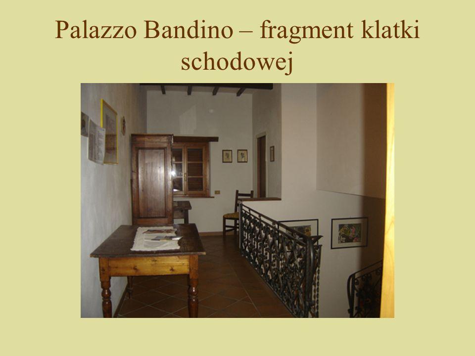 Palazzo Bandino – fragment klatki schodowej