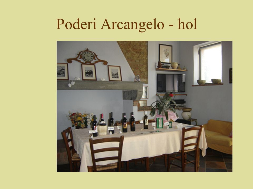 Poderi Arcangelo - hol