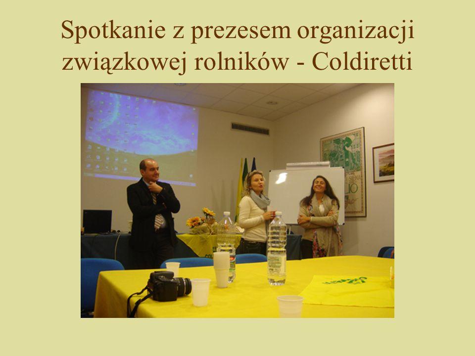 Spotkanie z prezesem organizacji związkowej rolników - Coldiretti