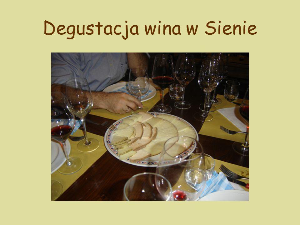 Degustacja wina w Sienie