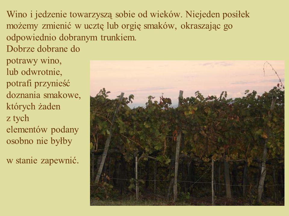 Wino i jedzenie towarzyszą sobie od wieków