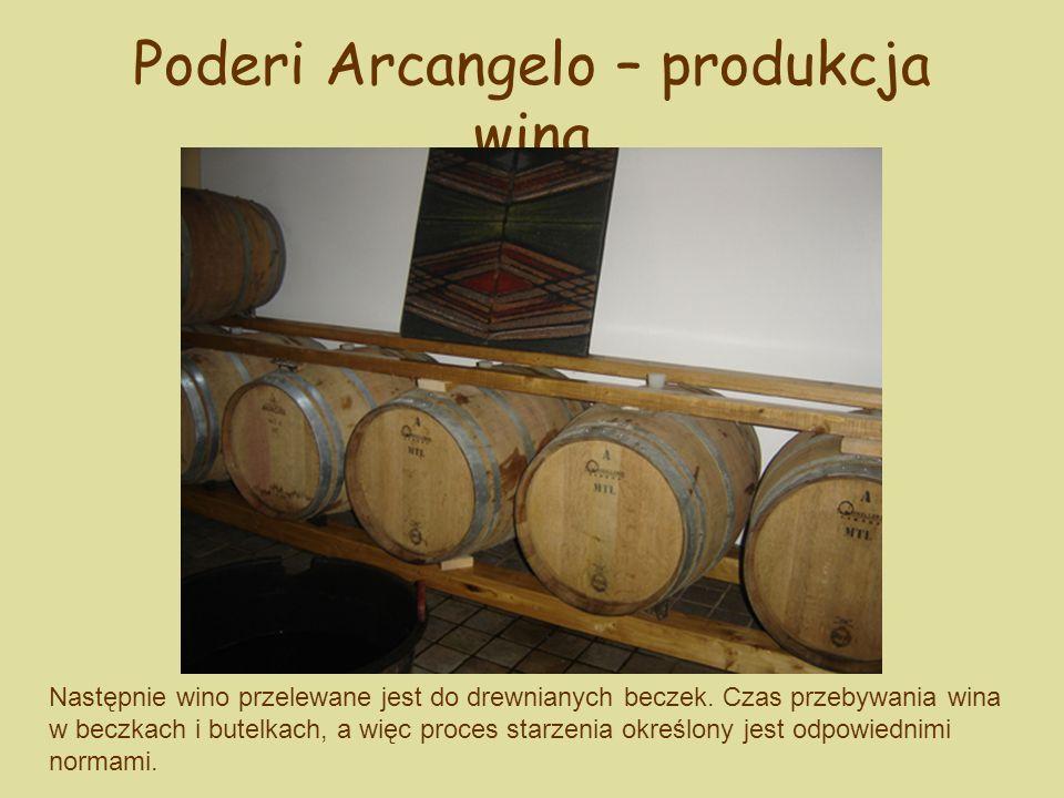 Poderi Arcangelo – produkcja wina