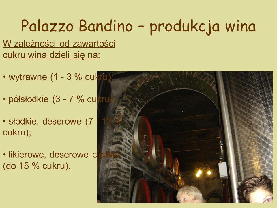 Palazzo Bandino – produkcja wina