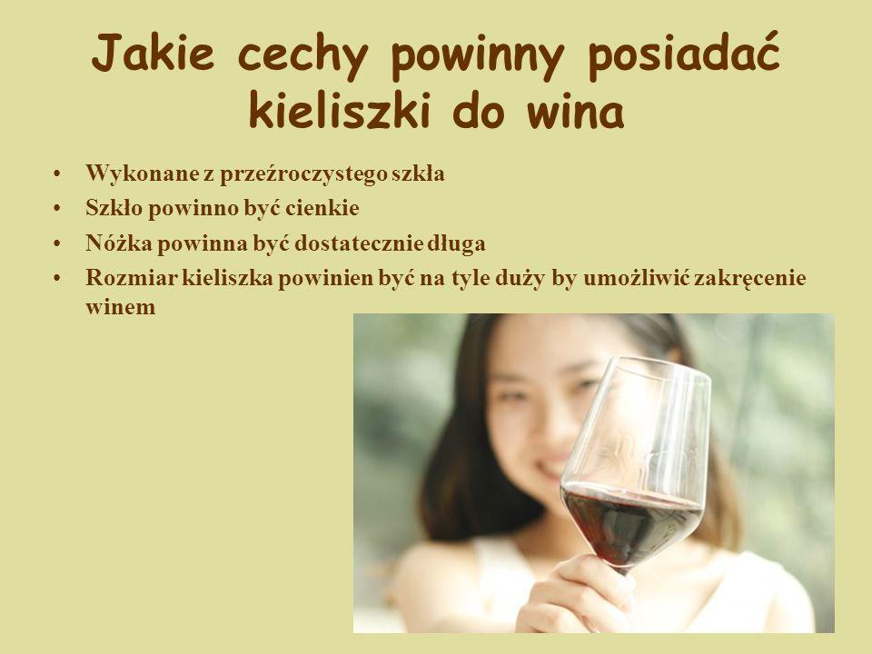 Jakie cechy powinny posiadać kieliszki do wina