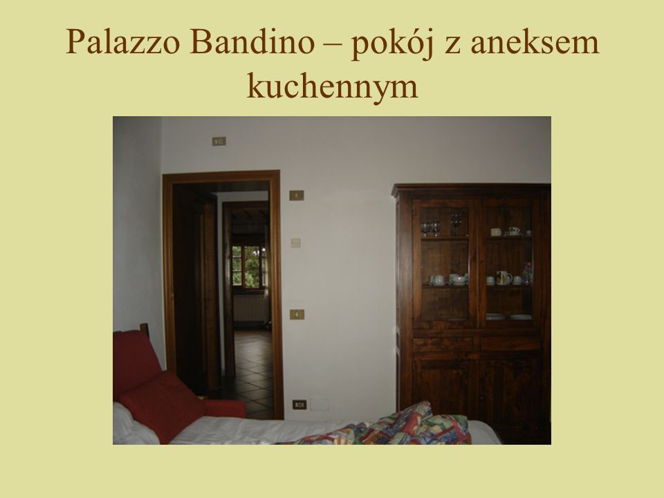 Palazzo Bandino – pokój z aneksem kuchennym