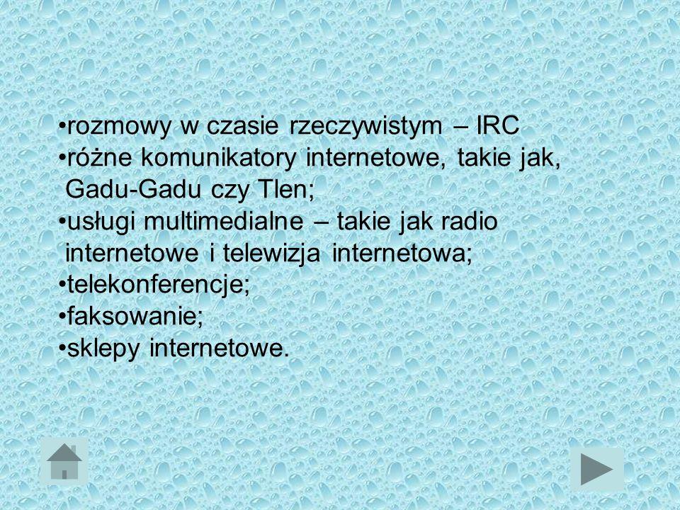 rozmowy w czasie rzeczywistym – IRC