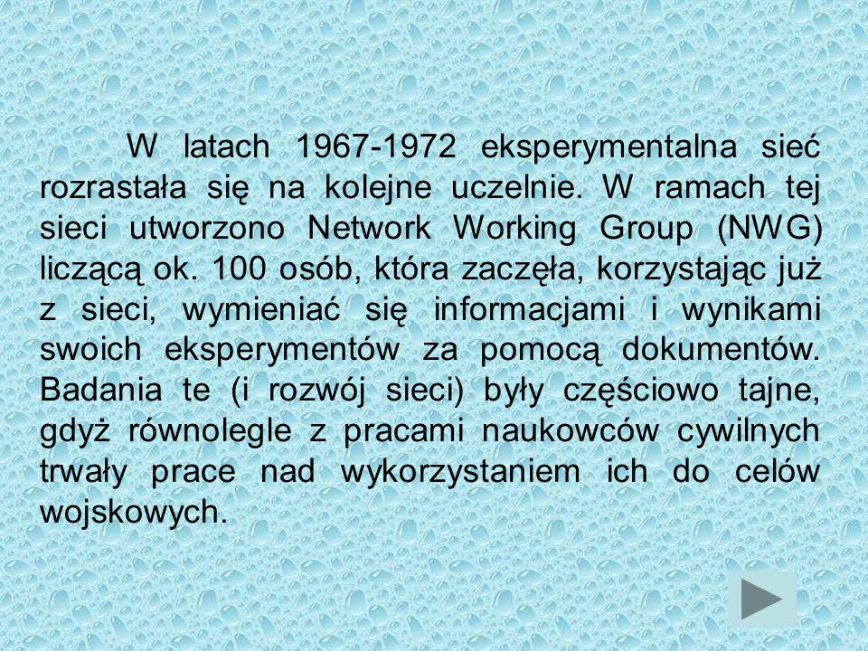 W latach 1967-1972 eksperymentalna sieć rozrastała się na kolejne uczelnie.