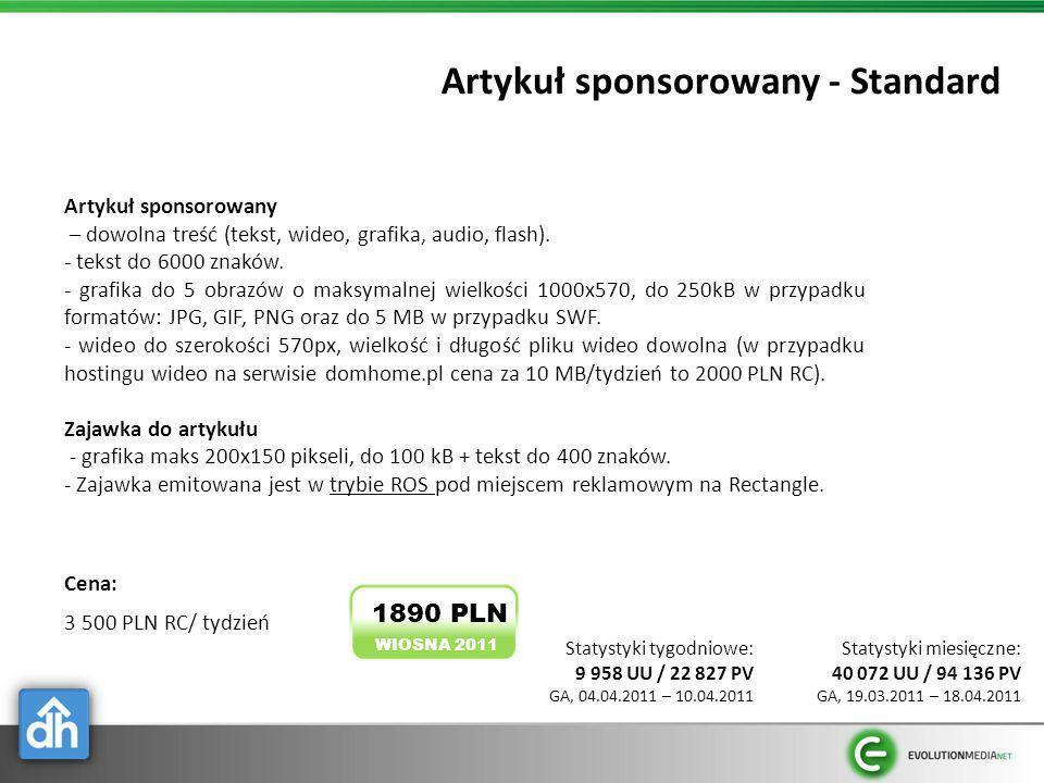 Artykuł sponsorowany - Standard