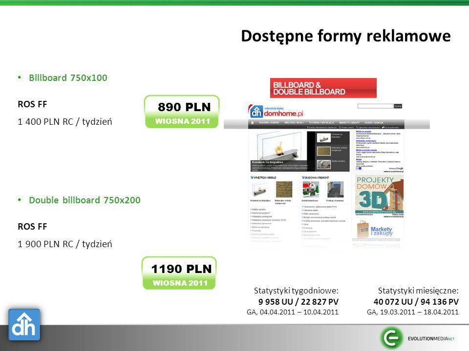 Dostępne formy reklamowe