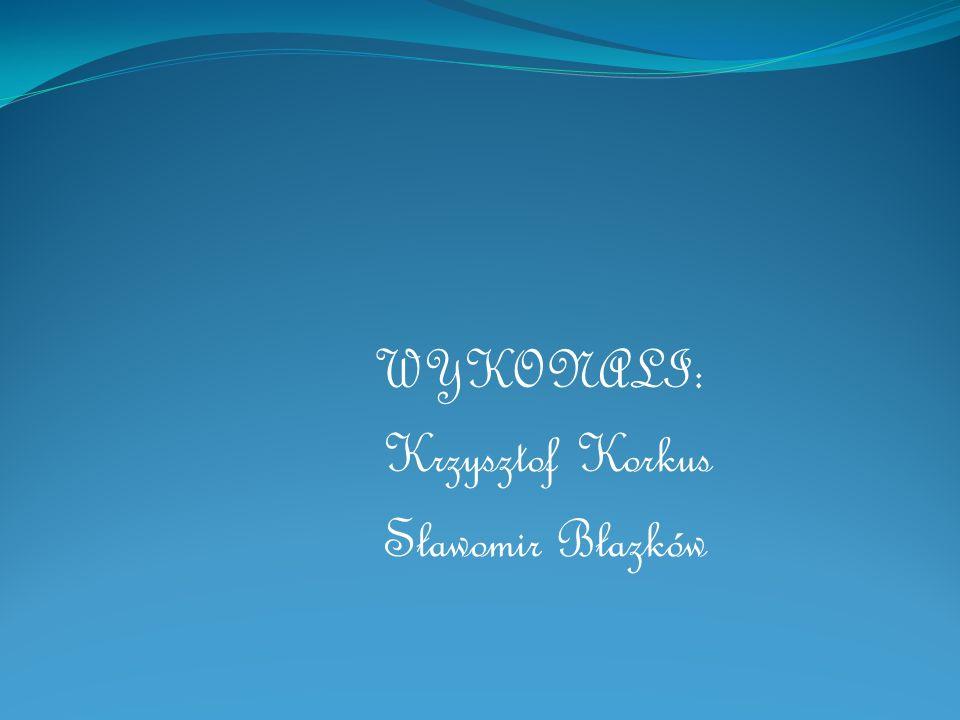 WYKONALI: Krzysztof Korkus Sławomir Błazków