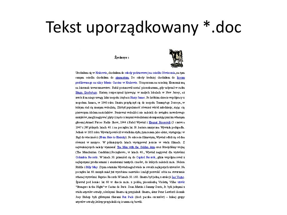 Tekst uporządkowany *.doc