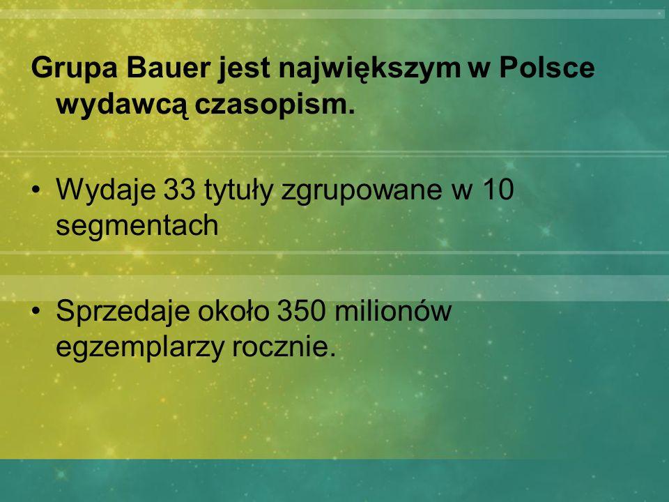 Grupa Bauer jest największym w Polsce wydawcą czasopism.