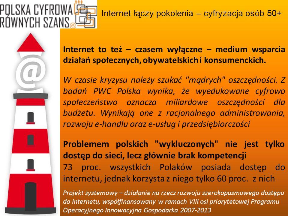 Internet łączy pokolenia – cyfryzacja osób 50+