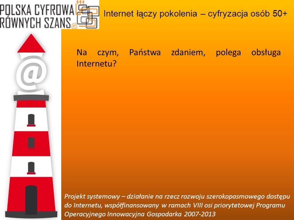 Na czym, Państwa zdaniem, polega obsługa Internetu