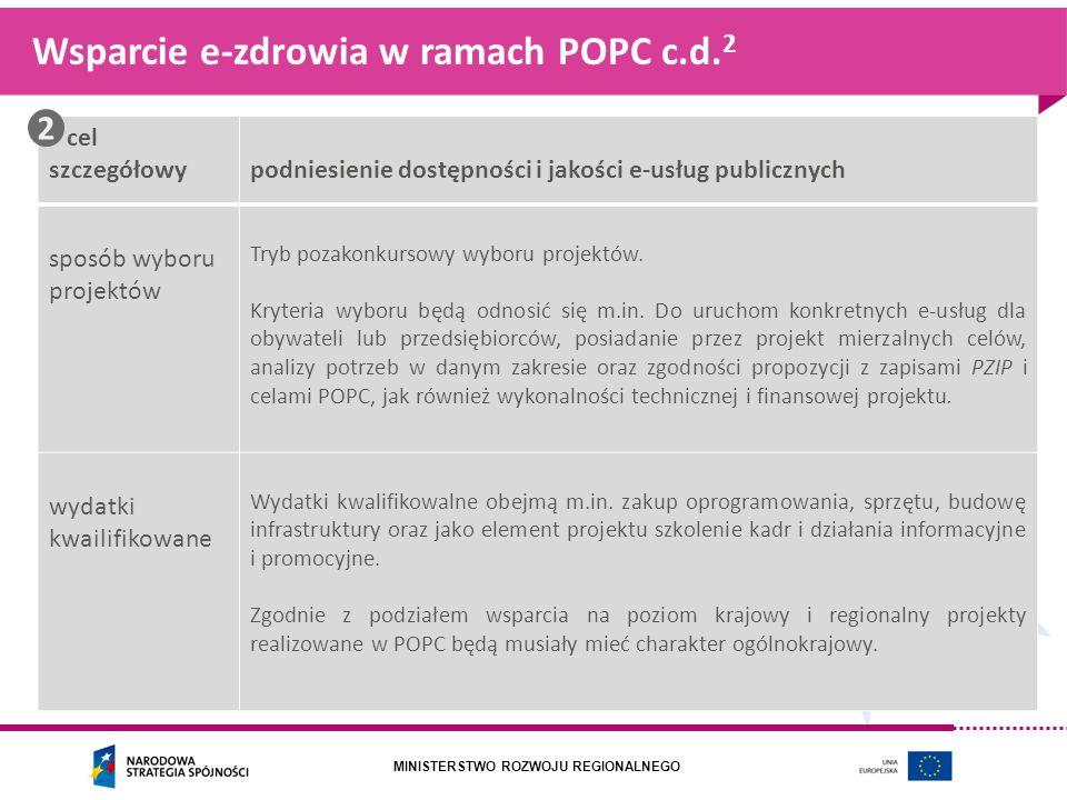 Wsparcie e-zdrowia w ramach POPC c.d.2