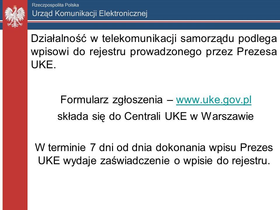 Formularz zgłoszenia – www.uke.gov.pl