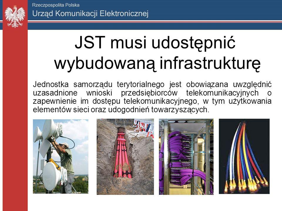 JST musi udostępnić wybudowaną infrastrukturę