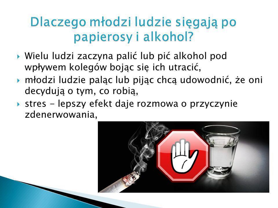 Dlaczego młodzi ludzie sięgają po papierosy i alkohol