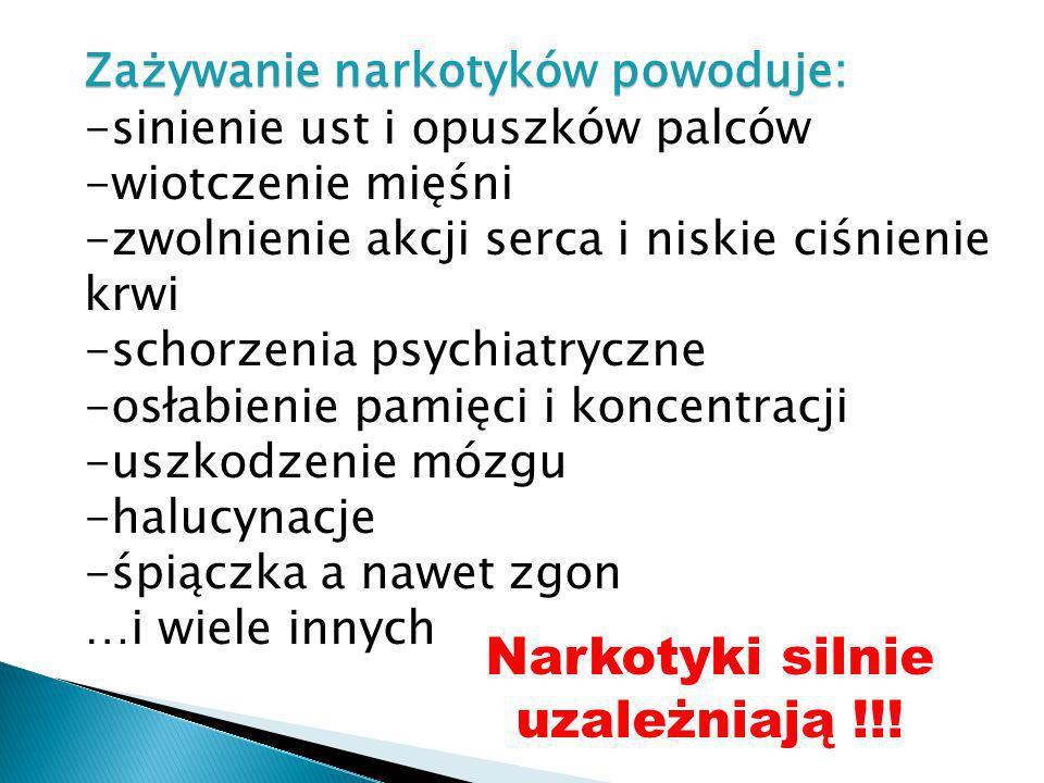 Narkotyki silnie uzależniają !!!
