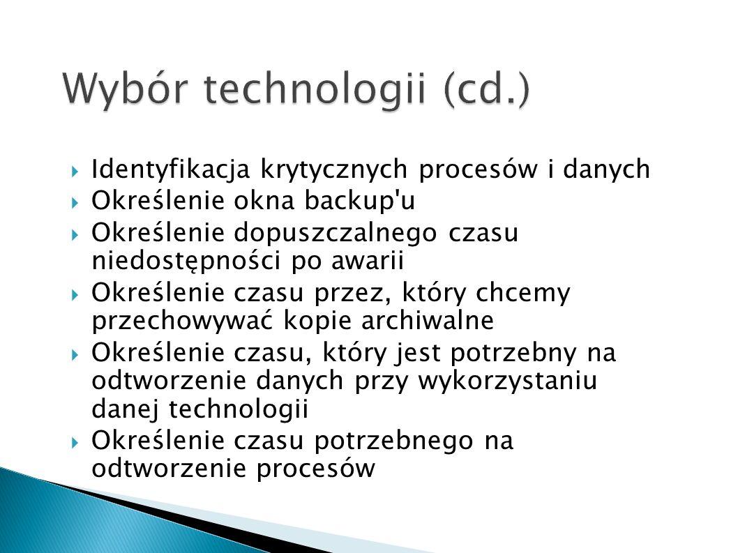 Wybór technologii (cd.)