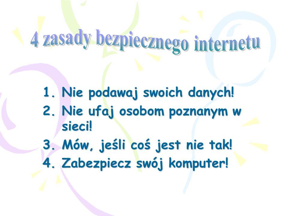4 zasady bezpiecznego internetu